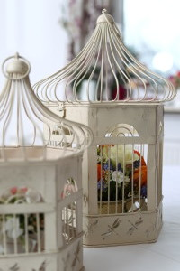 Shabby chic vogelk fige f r dekoration bei hochzeiten for Dekoration leihen